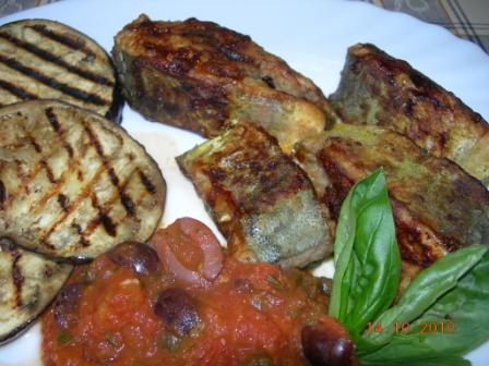 MalDia Grilled or fried lampuki with a traditional tomato salsa sauce