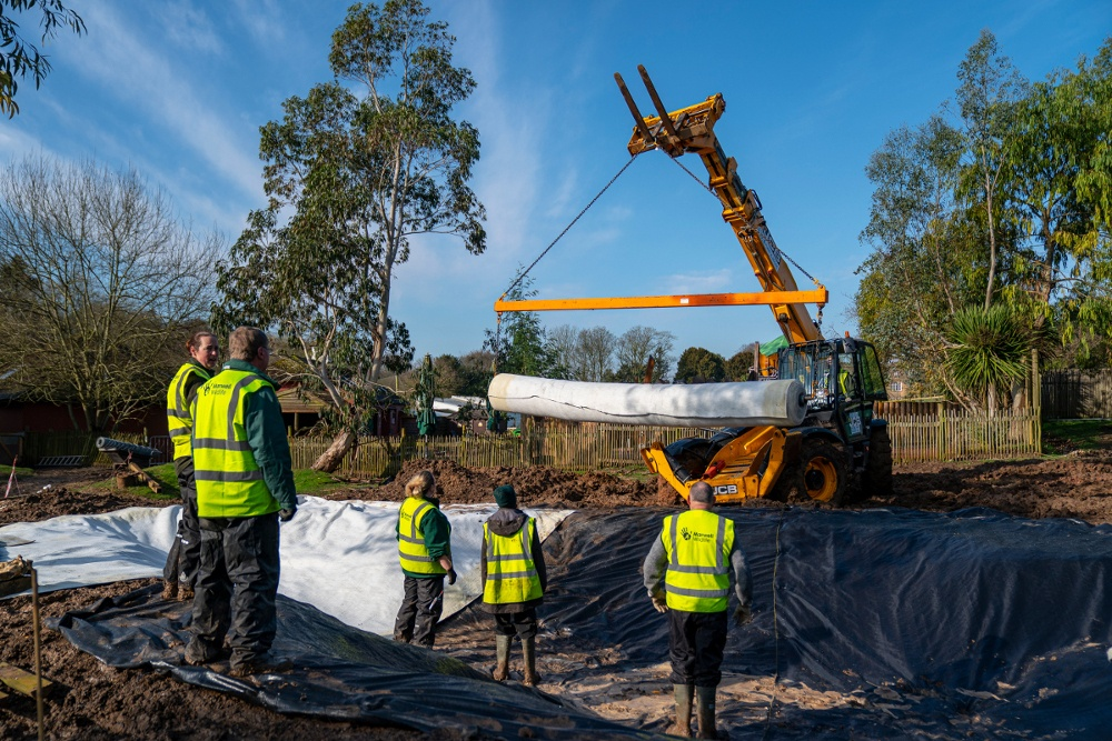 Pic Building the pond for the Wallabies Photo by Jason Brown