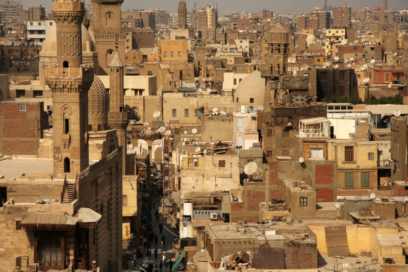 The crammed sprawl of old and new in Old Cairo