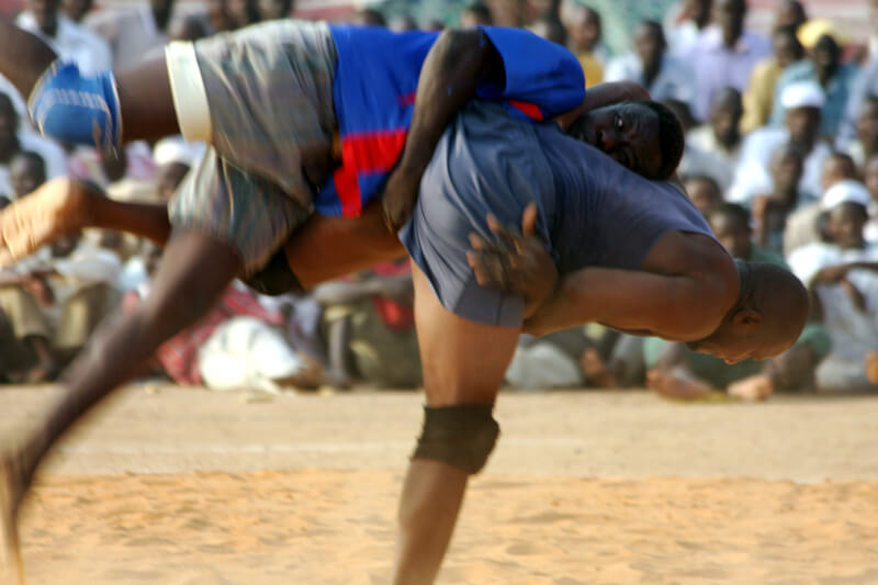 Two Nubian wrestlers at the the Friday fixture