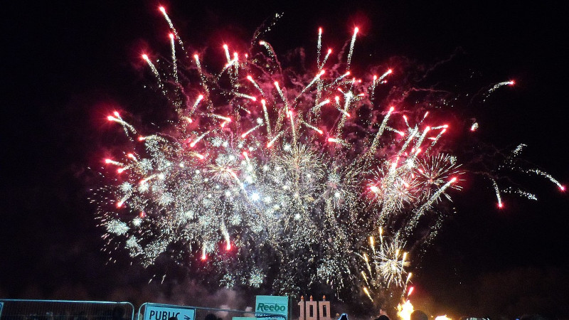 South Street fireworks Photo by editor