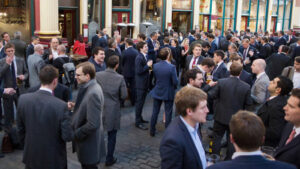 Lunchtime Office Drinkers in the City Drinking for Britain
