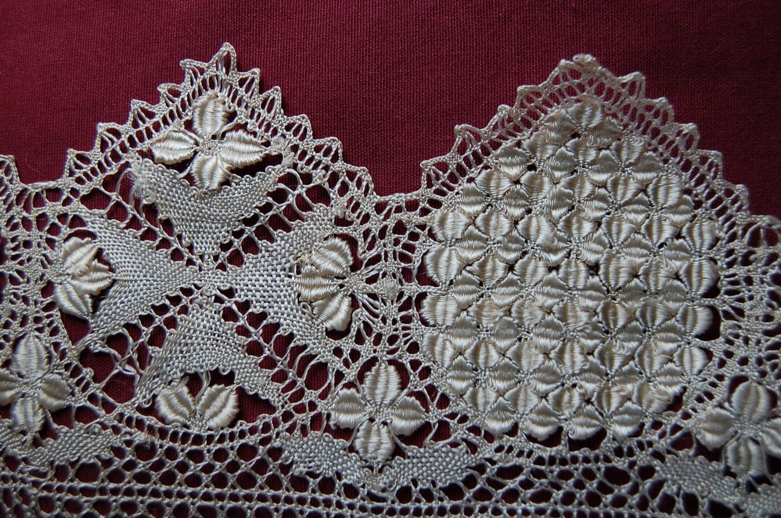 MalDia A delicate example of Malta Lace with the eight pointed Maltese Cross