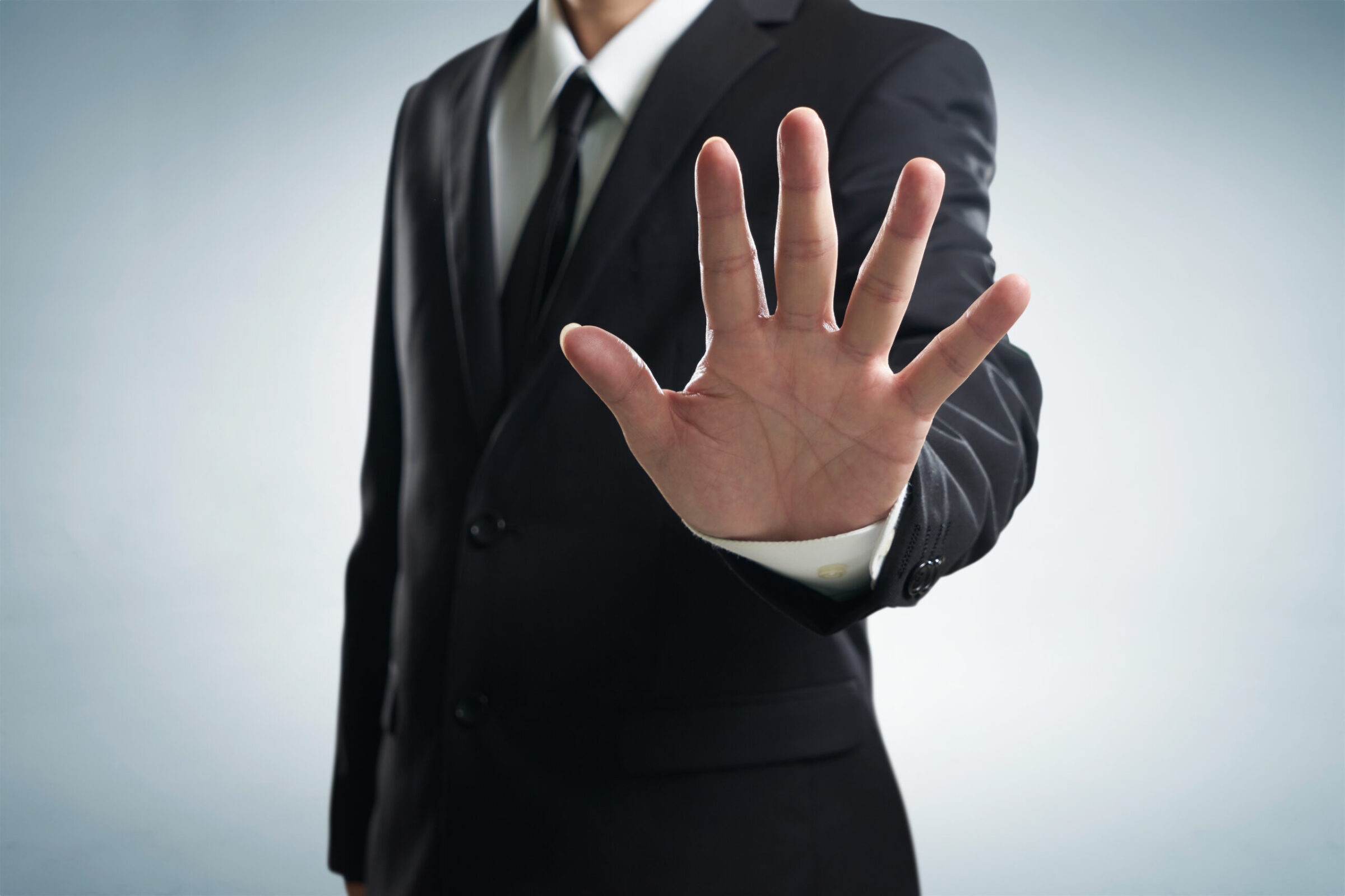 graphicstock hand stop shown by businessman S Uivgie