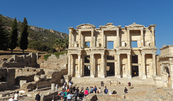 Turkey the Celsus library of Ancient Ephesus