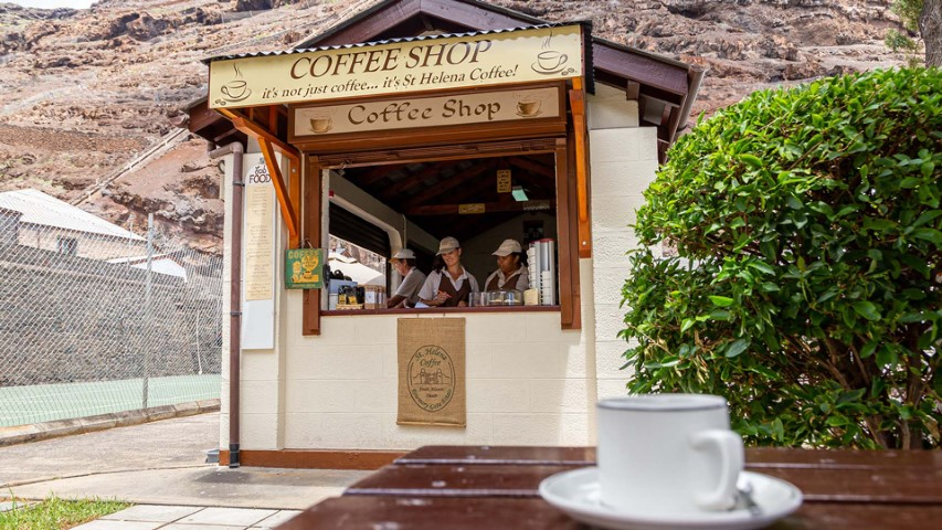 Why not taste St Helena coffee right on the spot