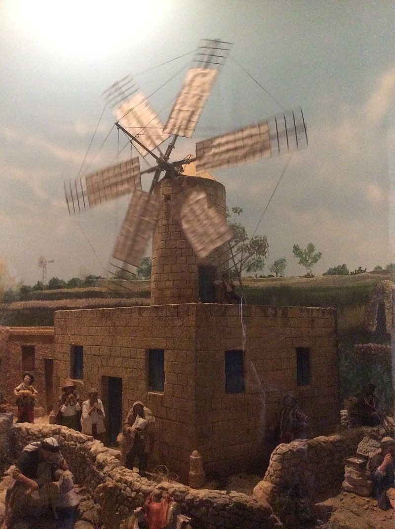 MalDia A model of the traditional Maltese windmill held at the Monte Kristo Museum at Luqa
