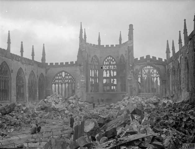 Pic Destroyed Coventry Cathedral Copyright IWM