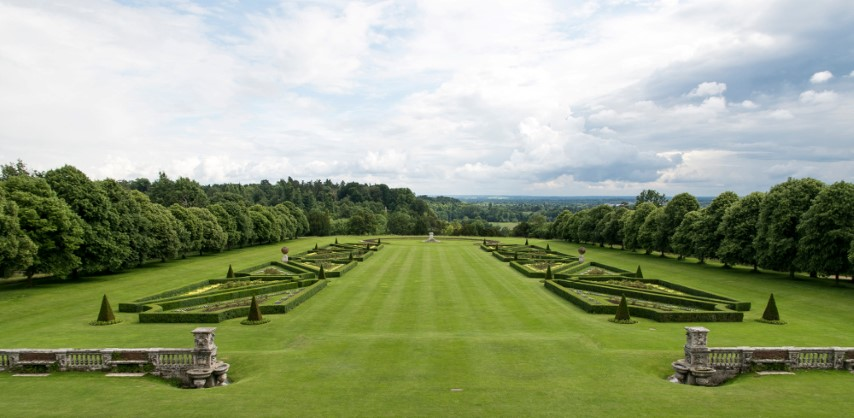 Pic View of the Parterre from the South Terrace