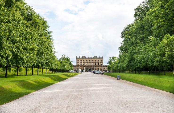 Pic The approach to Cliveden House