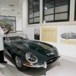 Pic 1. May half term at the British Motor Museum Dougie and the E Type 1