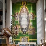 Pic-1.-Christ-in-Glory-tapestry-by-Graham-Sutherland-hanging-in-the-New-Cathedral.-Photo-Rob-Tysall
