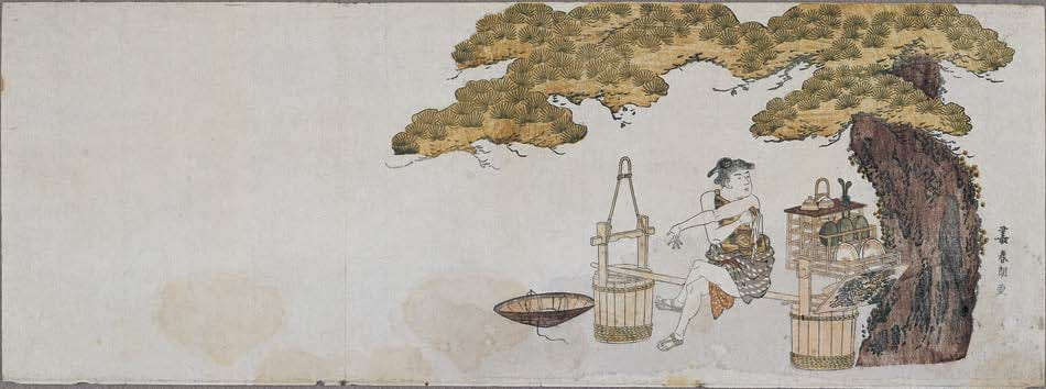 Cooll drinks seller by Hokusai-