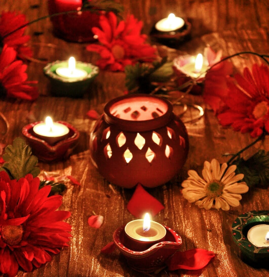 Pray & Dance- 'Garbo', the perforated earthen pot that holds the lamp, around which the 'Garba' dance is performed.