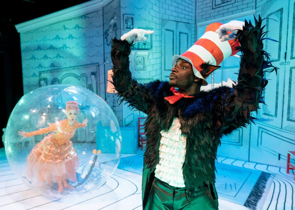 L R Charley Magalit Fish and Nana Amoo Gottfried Cat The Cat in the Hat Photography by Manuel Harlan