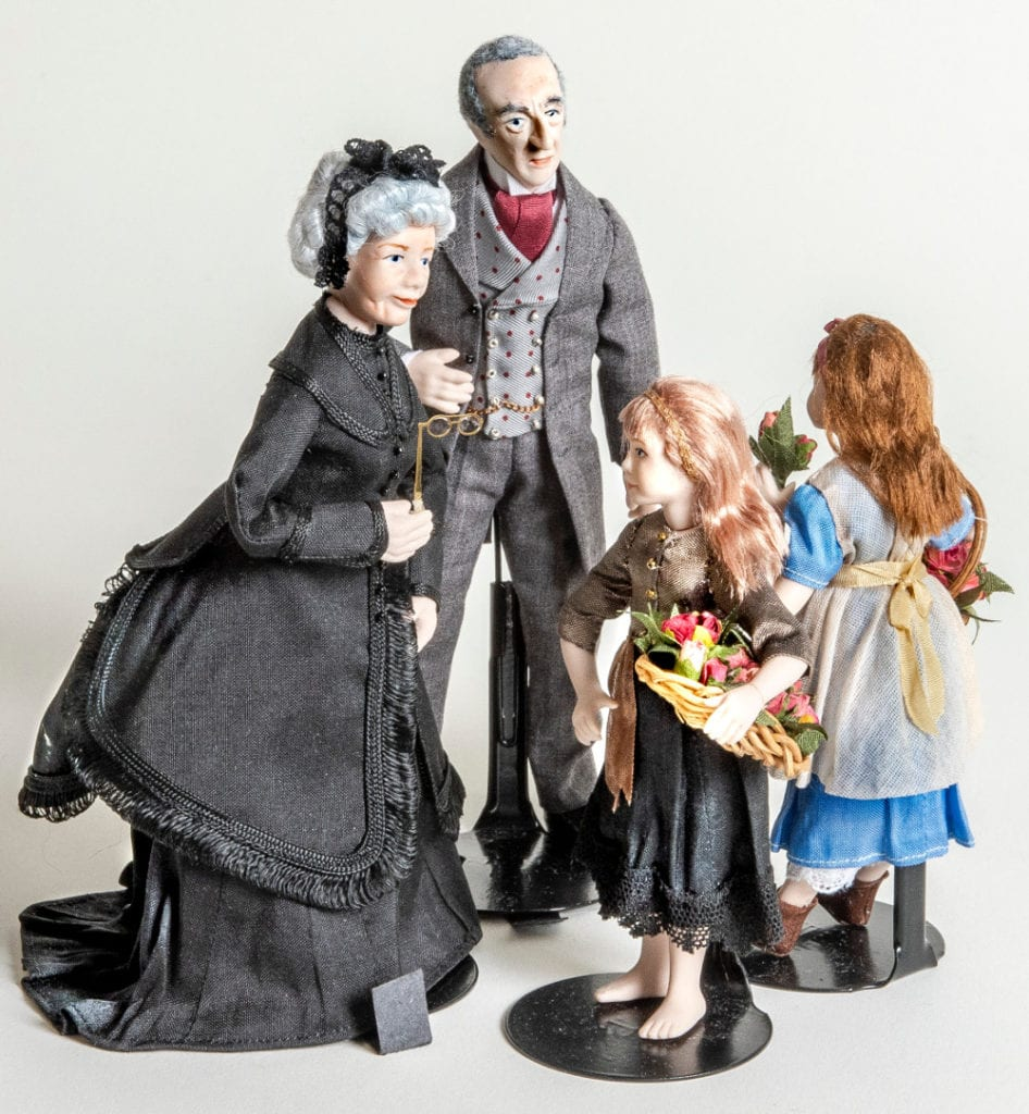 Pic Beautiful character dolls by World of My Own Rob Lucas Miniatures