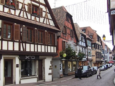 In the streets of Obernai