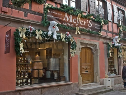 Wine shop in Alsace